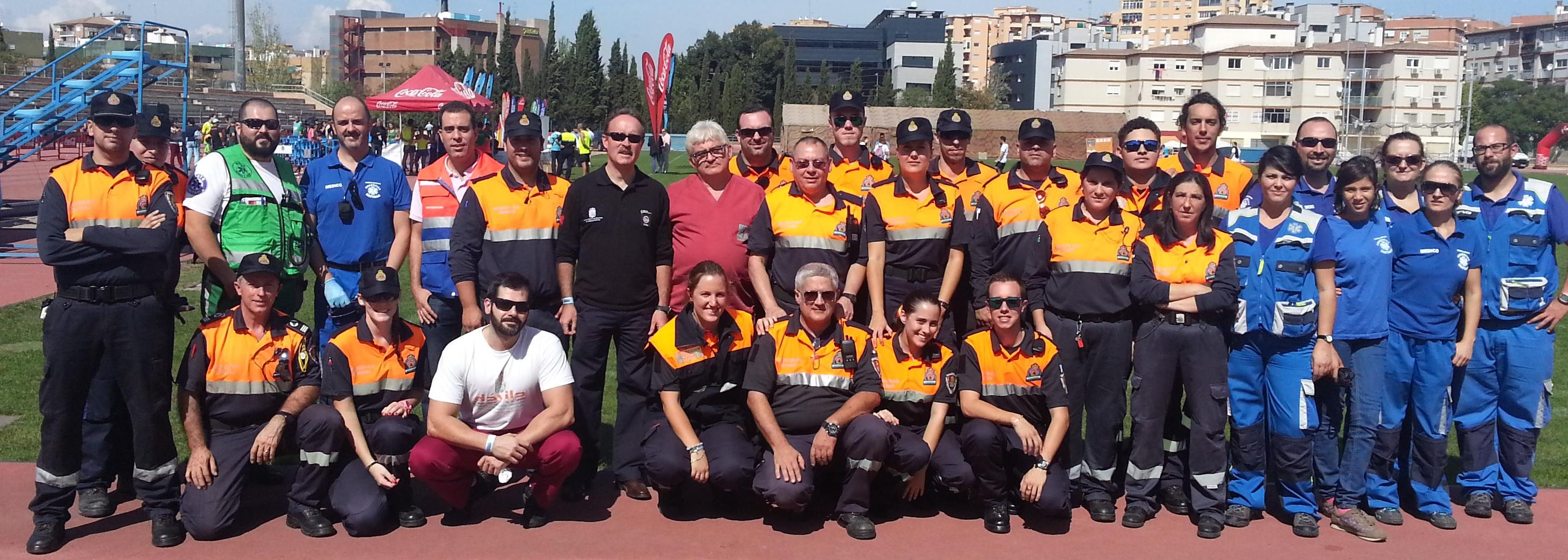 Personal asistencia médica Medio Maratón Granada 5 octubre 2014