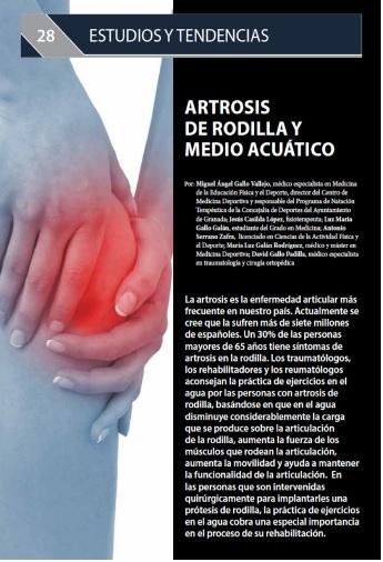 Portada Artrosis de rodilla y medio acuático