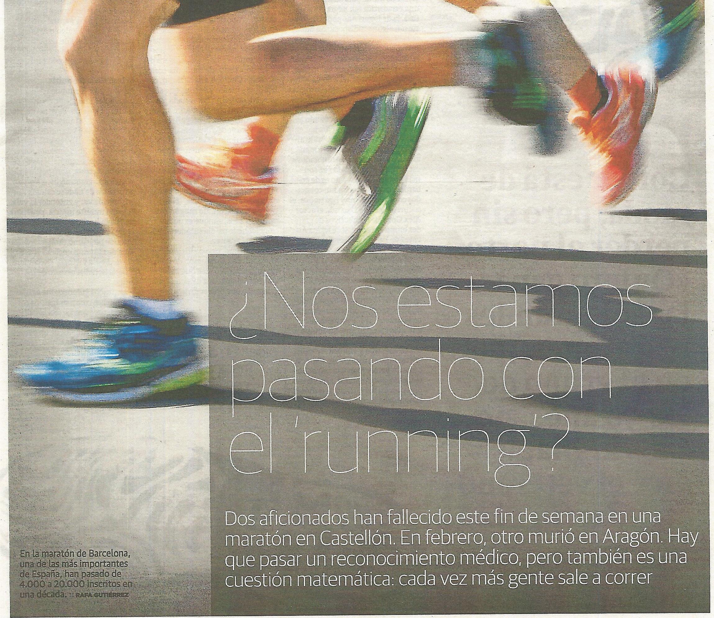 Examen médico para los corredores de larga distancia 1