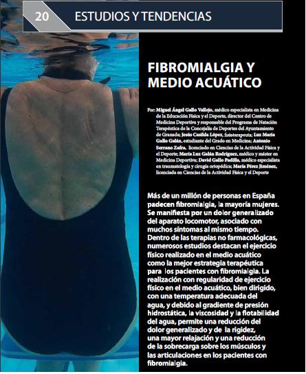 Fibromialgia y medio acuático