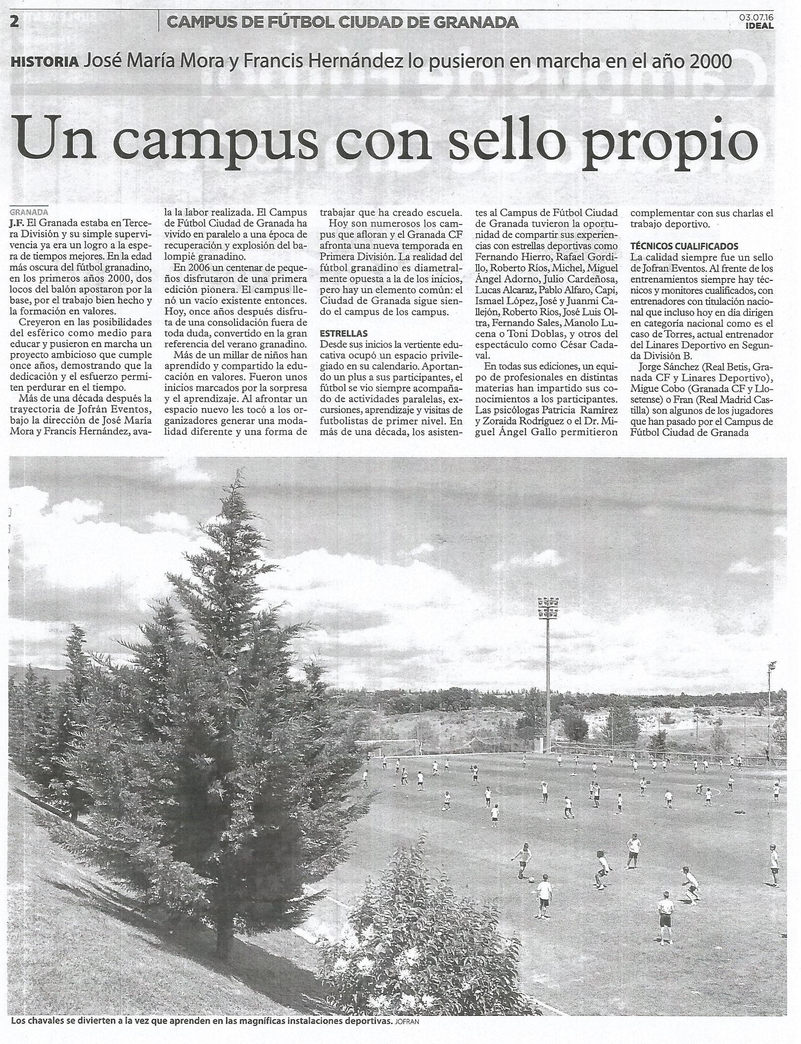 Campus de Fútbol Ciudad de Granada 2